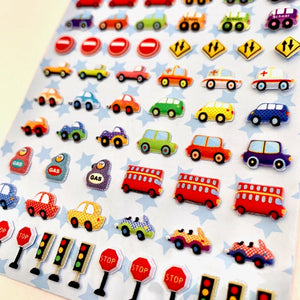 85988 CAR TINY PUFFY STICKERS-10