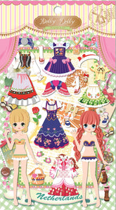 91187 DOLLY DOLLY PUFFY DRESS UP STICKERS-12