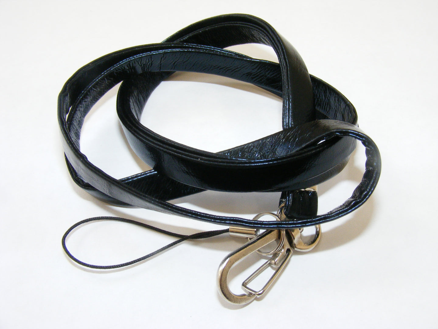 80062 BLACK LEATHERETTE LANYARD-10