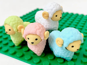 38022 IWAKO SHEEP ERASERS-4 COLORS-60