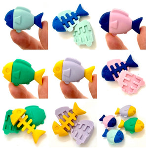 381111 FISH ERASER-4 COLORS-30