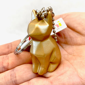 12034 GEOMETRIC CAT CHARM with keyring-12