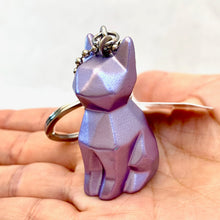 Load image into Gallery viewer, 12034 GEOMETRIC CAT CHARM with keyring-12