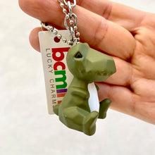 Load image into Gallery viewer, 12037 GEOMETRIC DINOSAUR CHARM with keyring-12