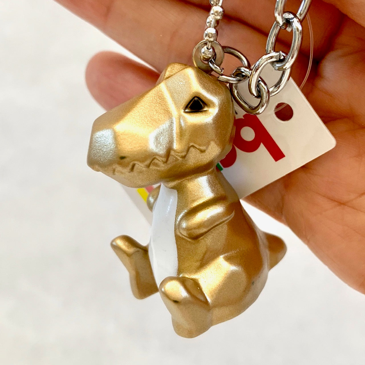 12037 GEOMETRIC DINOSAUR CHARM with keyring-12
