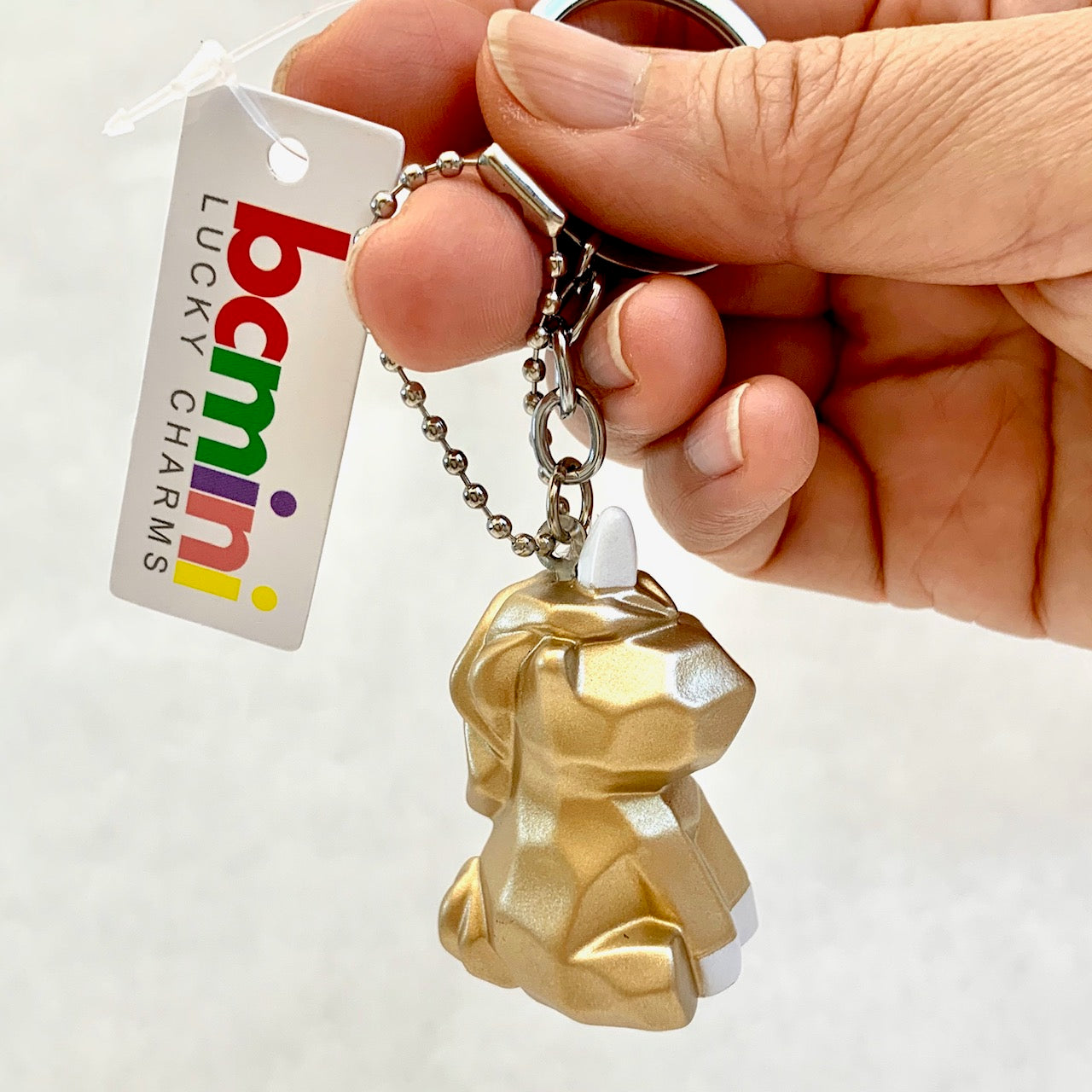 12036 GEOMETRIC UNICORN CHARM with keyring-12