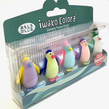 Load image into Gallery viewer, 38459 Iwako Colorz Penguin -12 sets of 5 Erasers