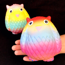 Load image into Gallery viewer, 83247 RAINBOW OWL SQUISHY-4.75 inch-slowrise soft-6