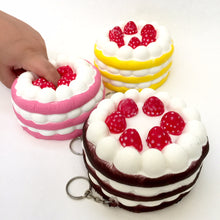 Load image into Gallery viewer, 83129 BIG STRAWBERRY SHORT CAKE SQUISHY-Slow-4.5 inch-4