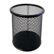 Load image into Gallery viewer, 99906 MESH STEEL PEN CUP BLACK -12