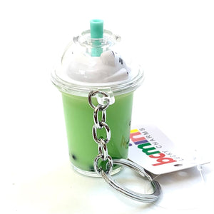 12041 CAT BOBA TEA CHARM with keyring-12 in 4 colors.