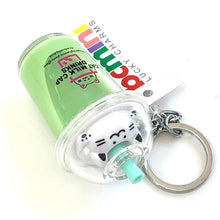 Load image into Gallery viewer, 12041 CAT BOBA TEA CHARM with keyring-12 in 4 colors.
