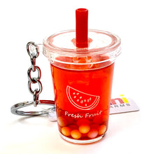 Load image into Gallery viewer, 12042 FRUIT BOBA DRINK CHARM with keyring-12 in 5 colors.