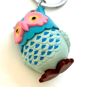 12024 OWL CHARM with keyring-12