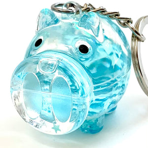 12004 CRYSTAL SPARKLE PIG CHARM-Discontinued