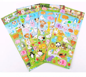 10122 ANIMAL PUFFY STICKERS-12