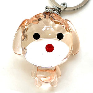 12002 CRYSTAL DIAMOND DOG CHARM-12