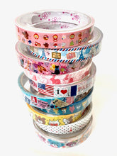 Load image into Gallery viewer, 71072 WASHI TAPES-10 ASSORTED DESIGNS-20 tapes