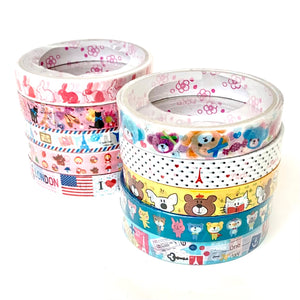 71072 WASHI TAPES-10 ASSORTED DESIGNS-20 tapes