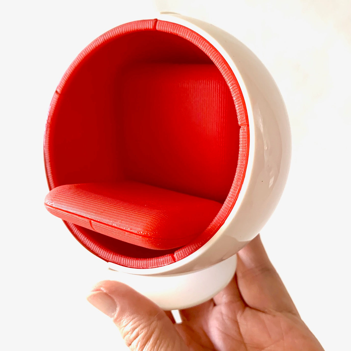 75135 Ball Chair-WHITE/RED-1