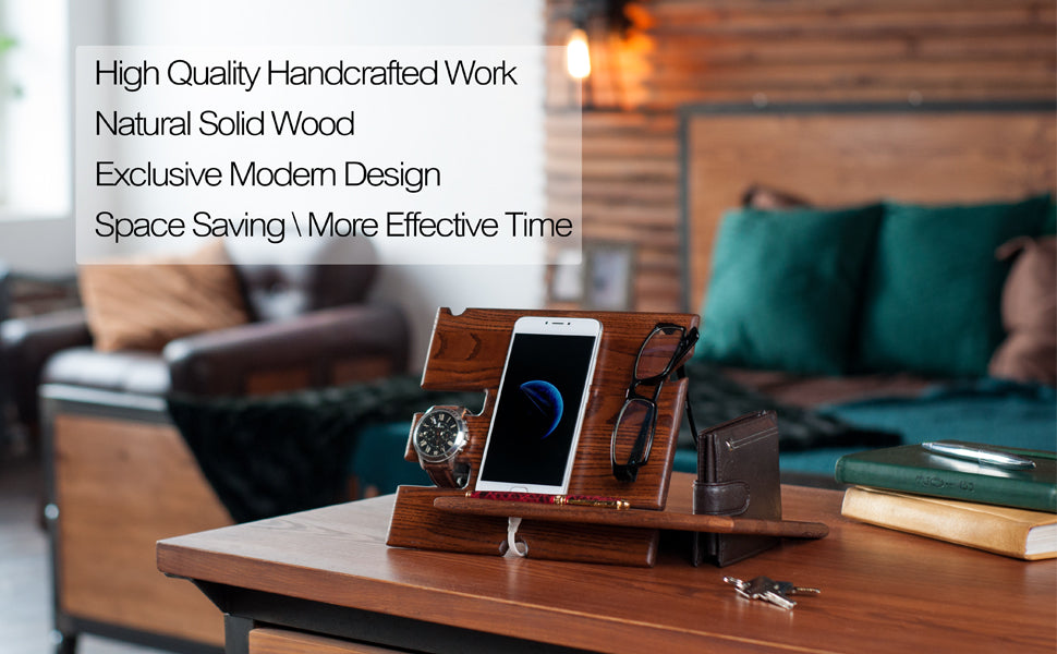 Universal Compact Docking Station And Desk Organizer