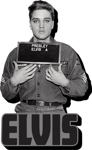 Elvis Presley 1958 Army Enlistment Photo Funky Chunky Magnet