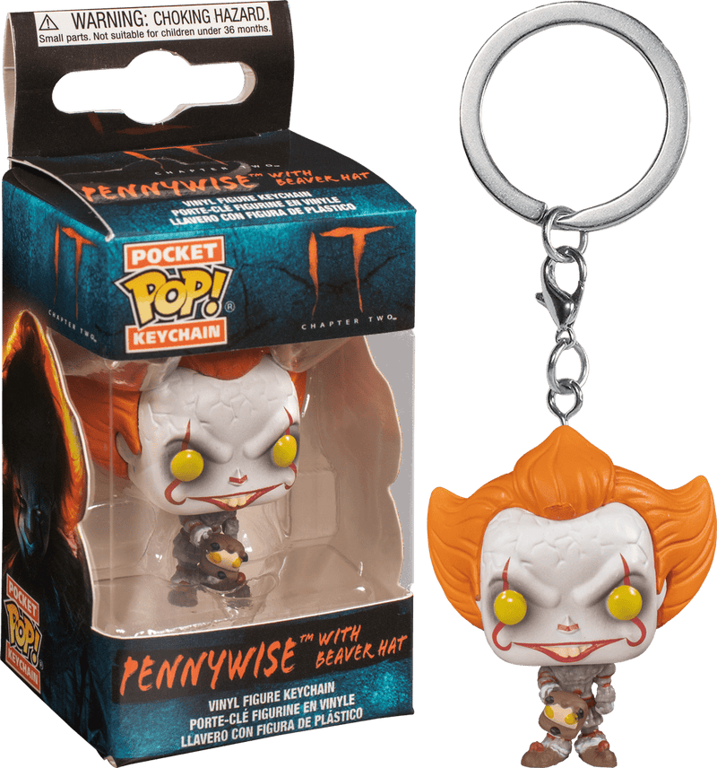 FUNKO POP! KEYCHAIN: It: Chapter 2 - Pennywise w/ Beaver Hat