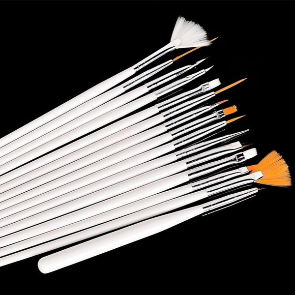 15 pcs Set Nail Art Brush Paint Dot Draw Pen Brush for UV Gel Diy Decoration tools