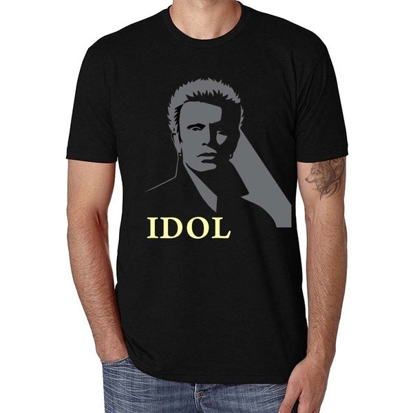 100% Cotton Casual Fashion Billy Idol Cool Graphic Mens T-Shirt
