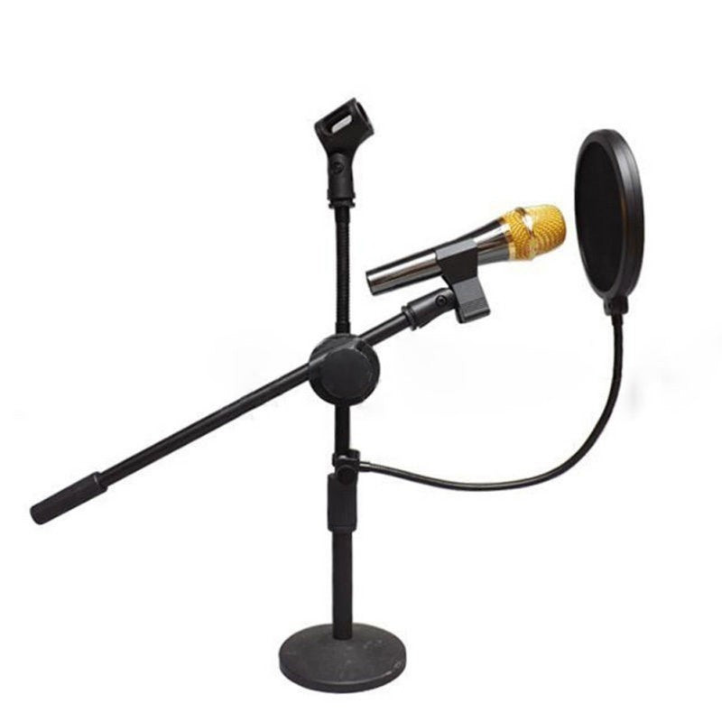 Pop Filter Double Layer Studio Microphone Mic Wind Screen Pop Filter/ Swivel Mount / Mask Shied For Speaking Recording Studio