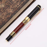 Luxury Metal Ballpoint Pen Imitation Wood Emboss Pattern Rollerball Pen Office School Stationery ANG