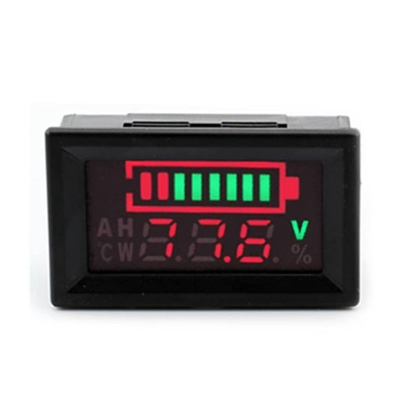 0.56 Inch Voltmeter Waterproof LED Battery Status Capacity Percentage Digital Display Indicator