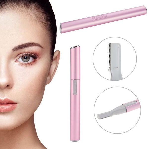 Portable Pink Women Lady Electric Shaver Eyebrow Trimmer Shaper Hair Remover  isfang