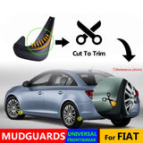 4pcs Universal Mud Flaps Mudflaps Splash Guards Mudguards Front Rear For Fiat 500 500x Bravo Punto Linea Palio Panda Dodge Neon