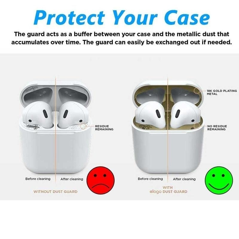 Dust Guard for AirPods  Premium Metal Sticker for Airpods Charging Case - Protect AirPods from Iron Metal Shavings