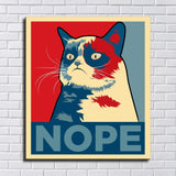 Grumpy cat HD Print Canvas Paintings Wall room Art (No Frame)