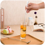 Stainless Steel Spoon With Long-Handled Kitchen Coffee Cocktail Spoons Ladle Tea Drink Spoons