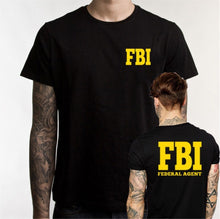 Load image into Gallery viewer, Men's Government Federal Agent Bureau of Investigation FBI T Shirt Agent Secret Service Police Funny Cotton O Neck Tshirt