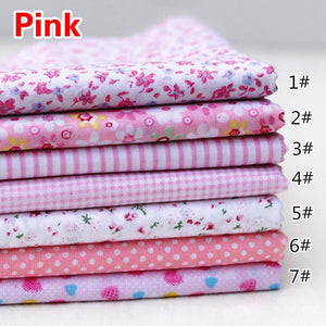 9Colors Scrapbook Cotton Fabric handmade Sewing Crafts Bundle Patchwork Diy Quilting (Size:25x25cm)