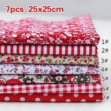 Load image into Gallery viewer, 9Colors Scrapbook Cotton Fabric handmade Sewing Crafts Bundle Patchwork Diy Quilting (Size:25x25cm)