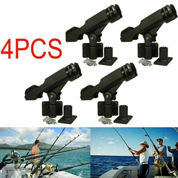 4PCS Fishing Rod Holder Rotatable Fishing Bracket with Screws for Boat Kayaking Yacht Accessory Tool