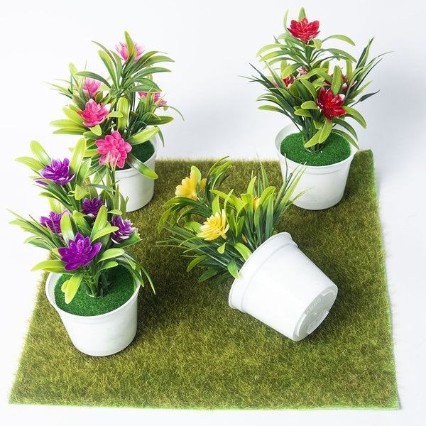 Home Decorations Outdoor Realistic Wedding Bright Color Office Fake Flowers Simulation Plants Bonsai Artificial Potted