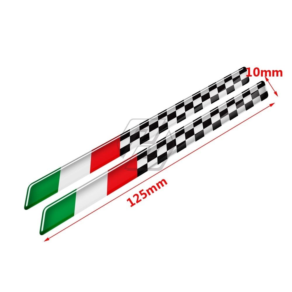 3D Italy Flag Racing Stickers for Aprilia Ducati Honda Suzuki Kawasaki Yamaha for Piaggio Vespa GTV GTS