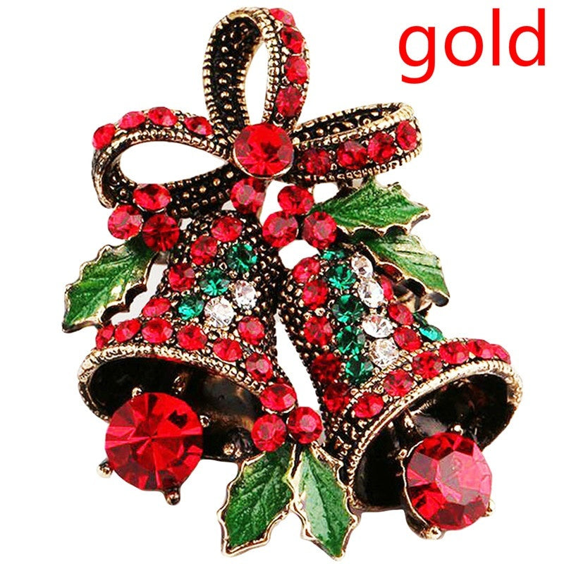 Christmas Suit Pin Creative Gift Vintage Christmas Brooch