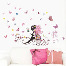 Load image into Gallery viewer, 3D Colorful Butterfly On Sticks Home Yard Flower Fairy stickers Bedroom Living Room Walls Cartoon Wall Stickers Wall Decals