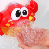 Crab bubble machine, baby bathroom toys, baby shower to enjoy the happy time