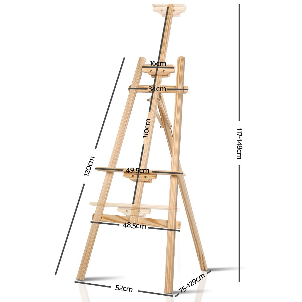 Artis Modern Floor Easel - White Oak Wood