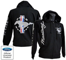 Load image into Gallery viewer, New Autumn Winter Ford Mustang Hoodie Mens Ford Racing Jacket Black Collage Logo Design Sweatshirt