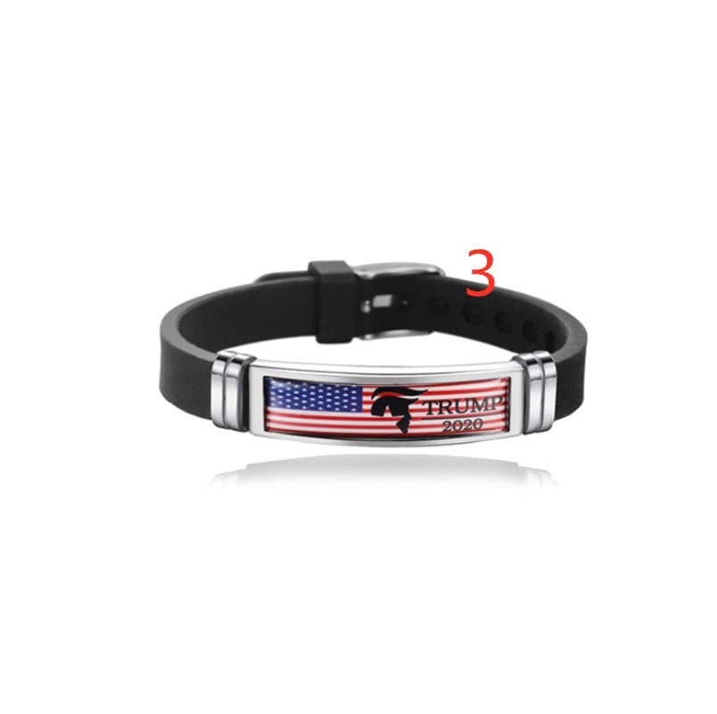1Pcs Donald Trump Keep America Great 2020 America president Bracelet Politics Election Silicone Bracelet gift