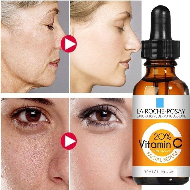 HOT NEW Pure Vitamin C 20% Serum for Face Skin Hyaluronic Acid Anti Aging SIZE(10ml/15ml/20ml/30ml)